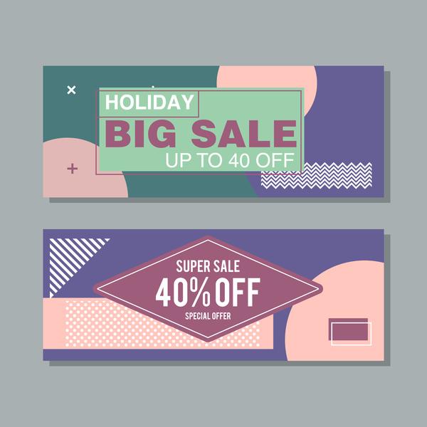 Big sale banner template vectors 09