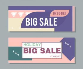 Big sale banner template vectors 10