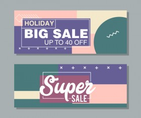 Big sale banner template vectors 11