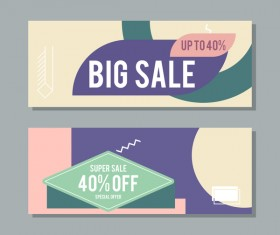 Big sale banner template vectors 12