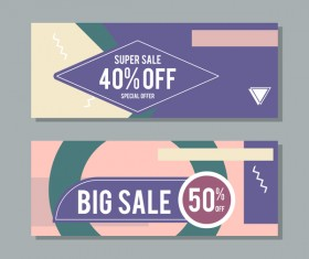 Big sale banner template vectors 14
