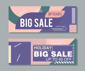 Big sale banner template vectors 15