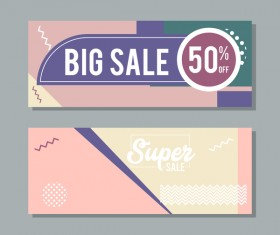 Big sale banner template vectors 16