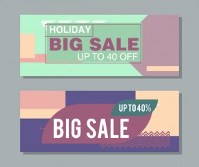 Big sale banner template vectors 17