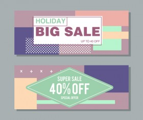 Big sale banner template vectors 18