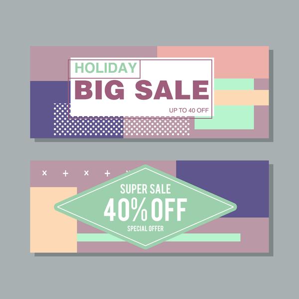 Big sale banner template vectors 18