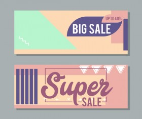 Big sale banner template vectors 19