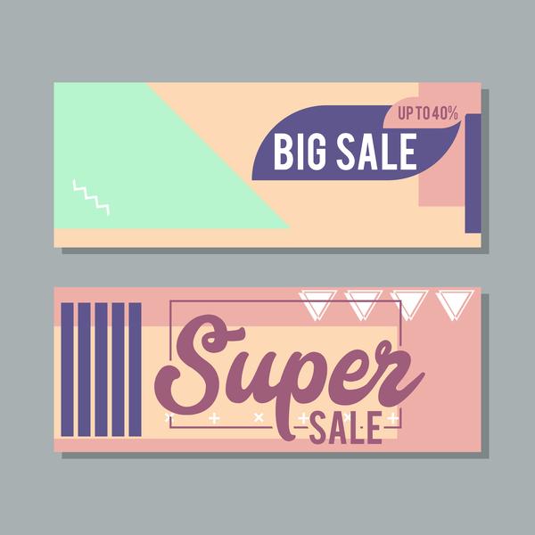 Big sale banner template vectors 19