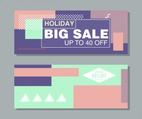 Big sale banner template vectors 20
