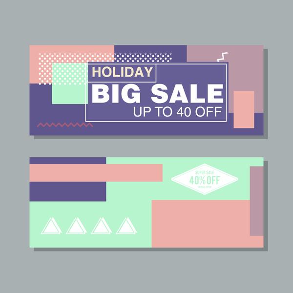 Big sale banner template vectors 20