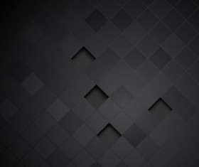 Black carbon fiber background template vector