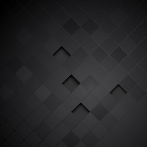 Black carbon fiber background template vector