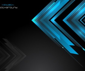 Blue abstract elements with black background vector