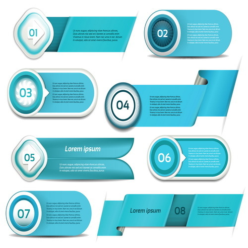 Blue business website banners vector