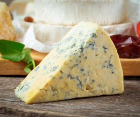 Blue cheese on the table Stock Photo 02