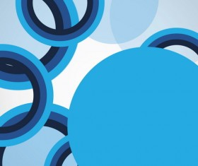 Blue circles with modern background vector