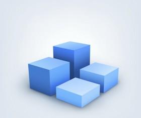 Blue cube vector illustration
