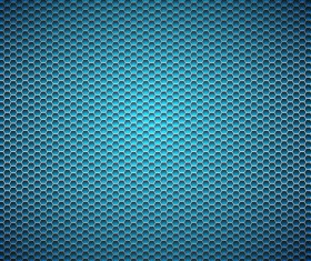 Blue honeycomb background vector