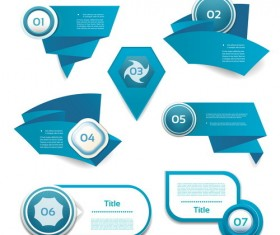 Blue option banners business design vector