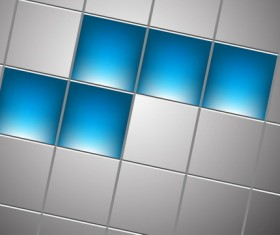 Blue with gray squre background vector