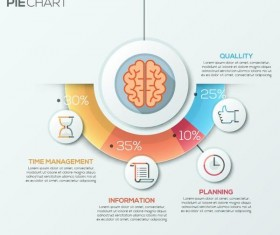 Brain infographic template vector 02