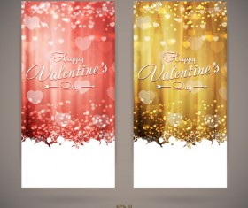 Bright Valentines day invitation cards vector