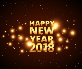 Brown 2018 new year background vector
