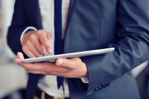 Business people using Tablet PC Stock Photo 02