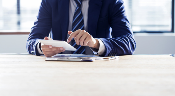 Business people using Tablet PC Stock Photo 04