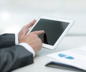 Business people using Tablet PC Stock Photo 06