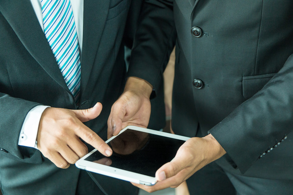 Business people using Tablet PC Stock Photo 08