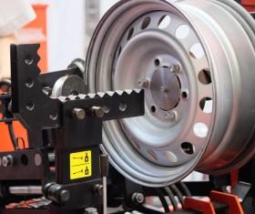 Car tire maintenance Stock Photo 01