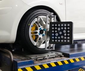 Car tire maintenance Stock Photo 02