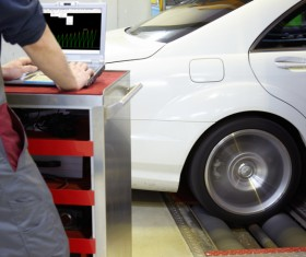 Car tire maintenance Stock Photo 03
