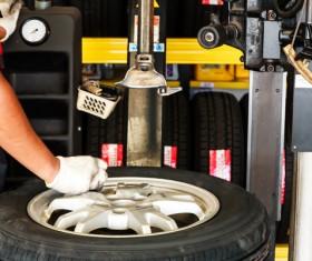Car tire maintenance Stock Photo 04