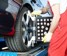 Car tire maintenance Stock Photo 05