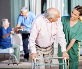 Caring for elderly Stock Photo 02