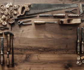 Carpenter professional tools Stock Photo 01