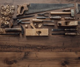 Carpenter professional tools Stock Photo 03