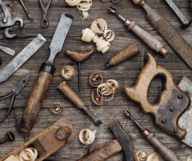 Carpenter professional tools Stock Photo 05