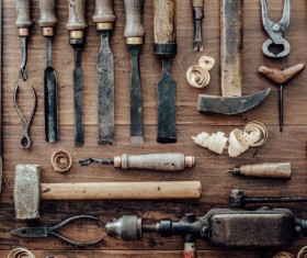 Carpenter professional tools Stock Photo 10