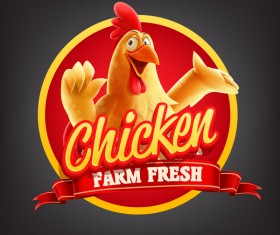 Chicken banner vector illustration