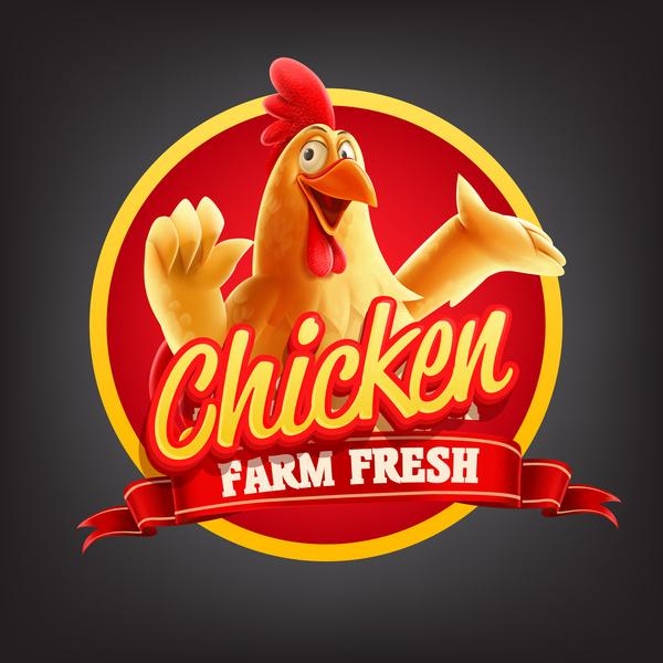 Chicken banner vector illustration