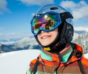 Children having fun in ski resort Stock Photo 01