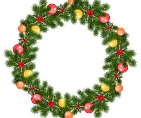 Christmas decor wreath illustration vector 02