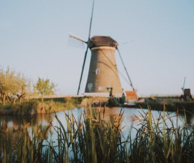 Classical windmill Stock Photo