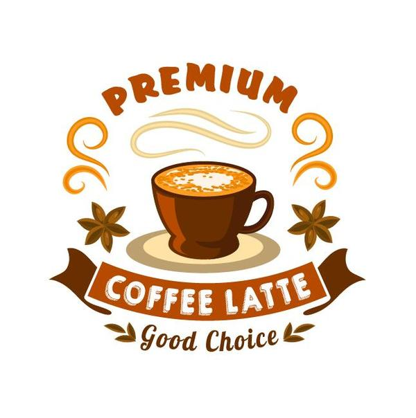 Coffee label vintage design vector 07