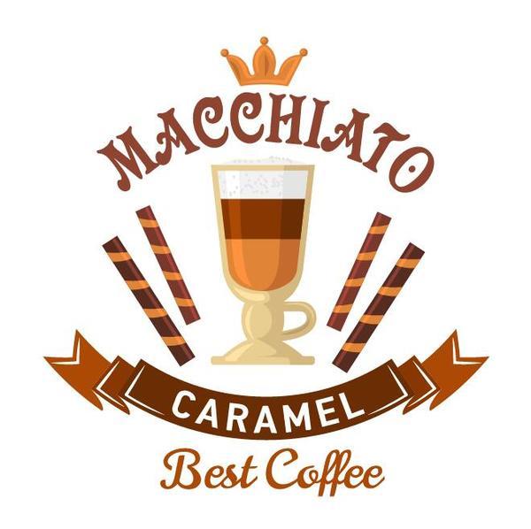 Coffee label vintage design vector 10