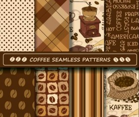 Coffee vector pattern set 01