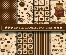 Coffee vector pattern set 02